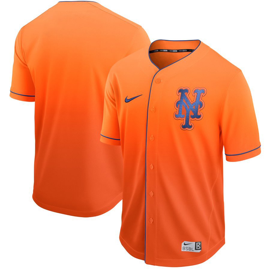 Mets Blank Orange Drift Fashion Jersey