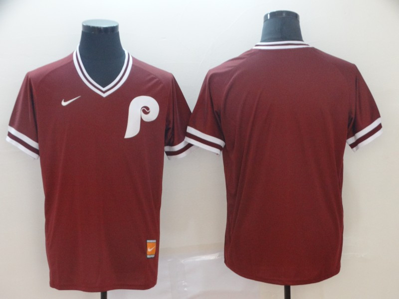 Phillies Blank Red Nike Throwback Jersey