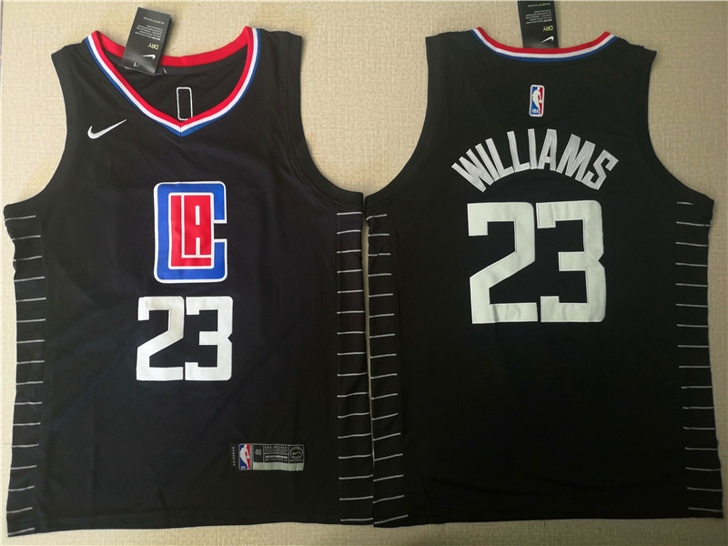 28ed734602a Clippers 23 Lou Williams Black Nike Swingman Jersey