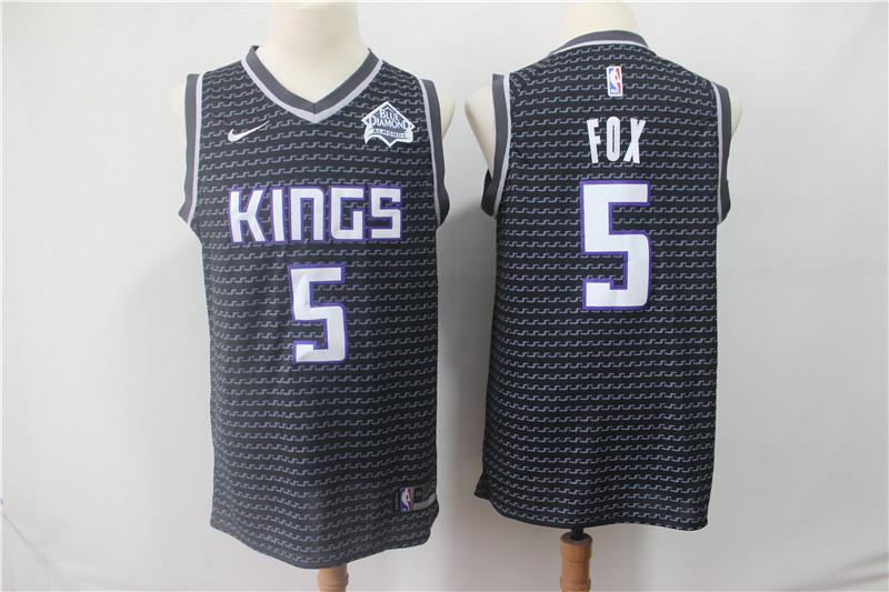 Kings 5 De'Aaron Fox Black Nike Swingman Jersey