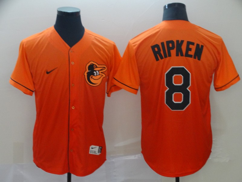 Orioles 8 Cal Ripken Jr Orange Drift Fashion Jersey