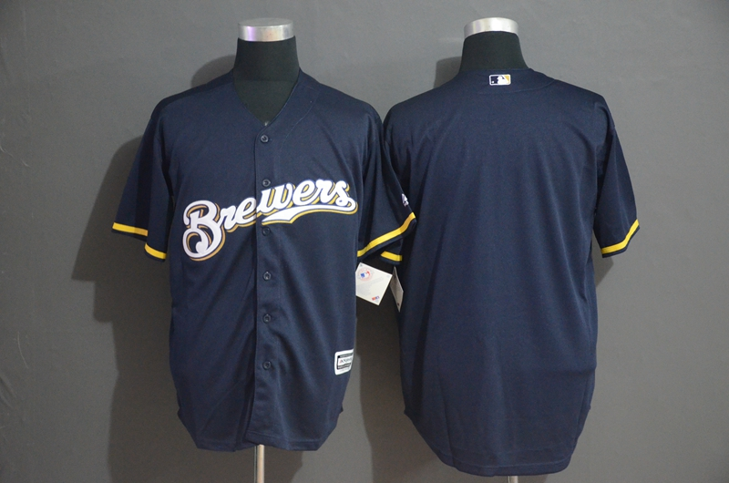 Brewers Blank Navy Cool Base Jersey
