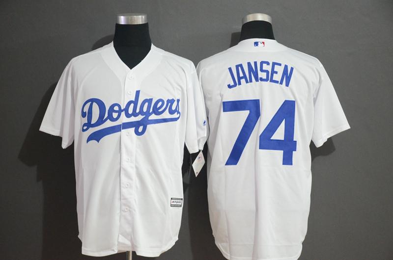 Dodgers 74 Kenley Jansen White Cool Base Jersey