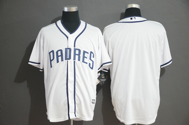 Padres Blank White Cool Base Jersey