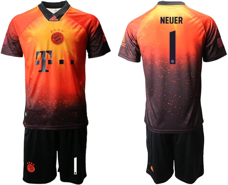 2018-19 Bayern Munich 1 NEUER FIFA Digital Kit Soccer Jersey