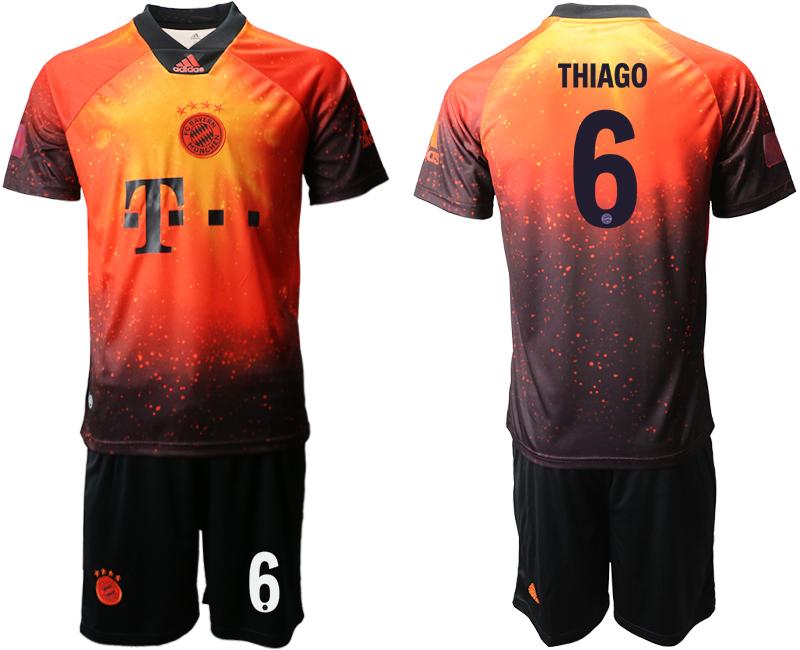 2018-19 Bayern Munich 6 THIAGO FIFA Digital Kit Soccer Jersey
