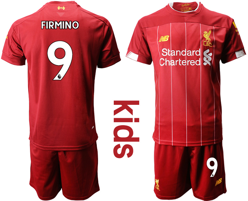 2019-20 Liverpool 9 FIRMINO Youth Home Soccer Jersey