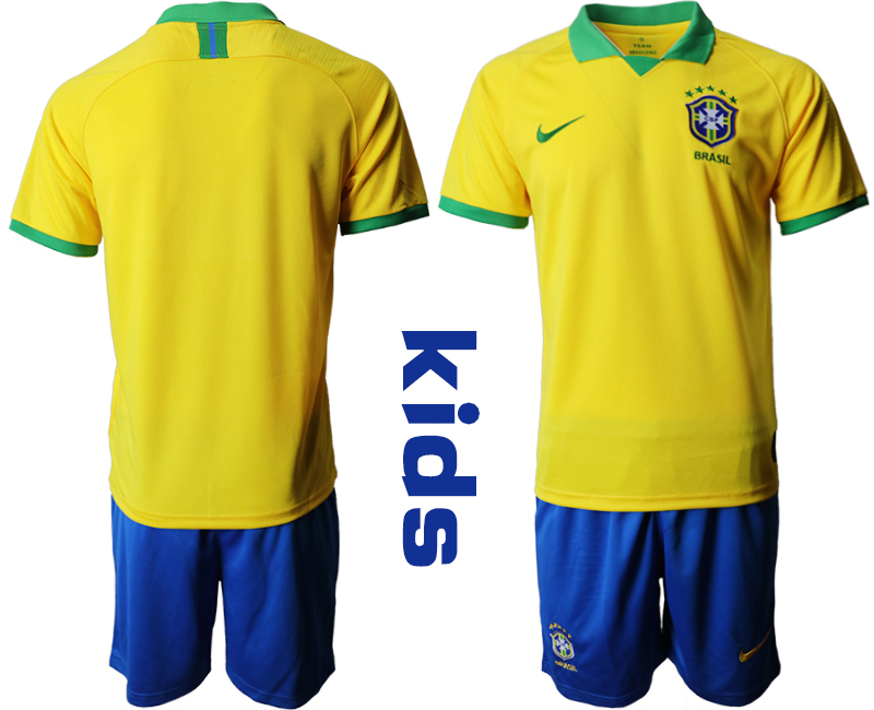 2019-20 Brazil Youth Home Soccer Jersey