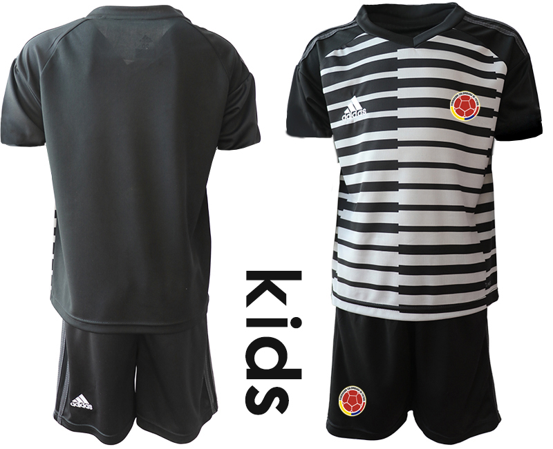 2019-20 Colombia Black Youth Goalkeeper Soccer Jersey