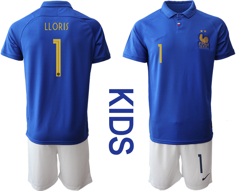 2019-20 France 1 LLORIS Youth Centenary Edition Soccer Jersey
