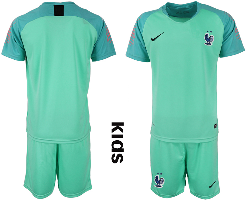 2019-20 France Blue Youth Goalkeeper Soccer Jersey
