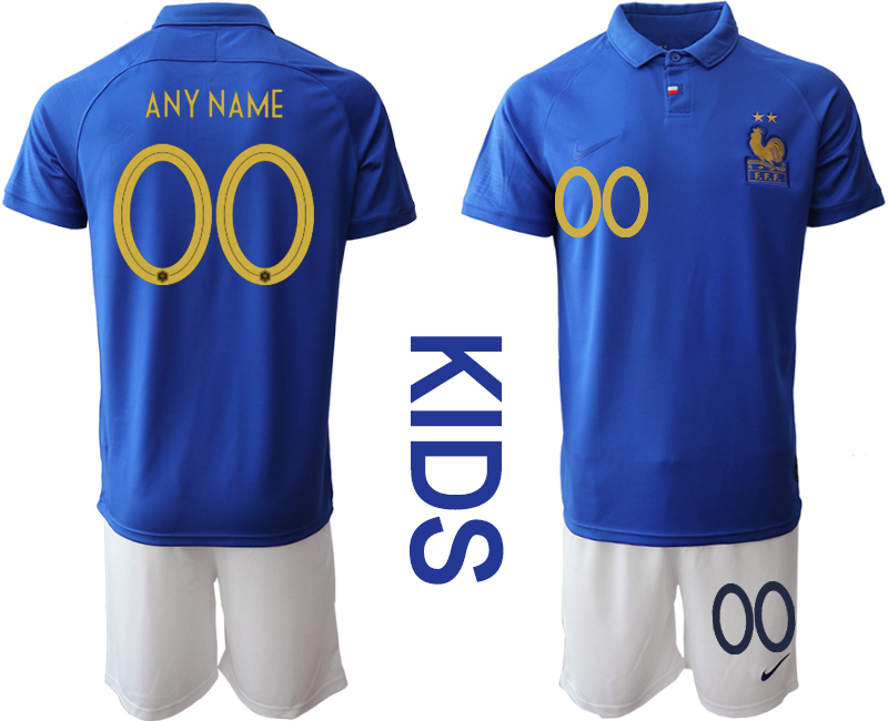 2019-20 France Customized Youth Centenary Edition Soccer Jersey