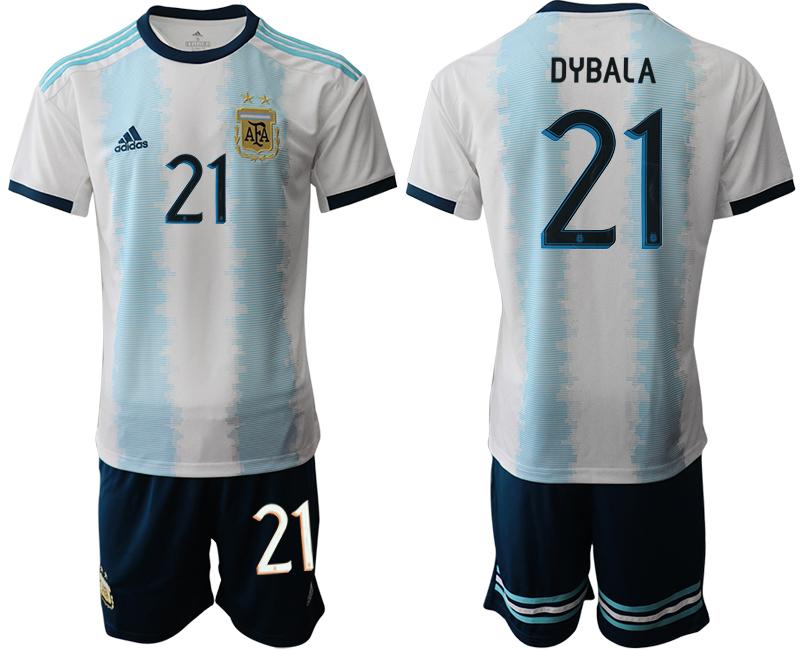 2019-20 Argentina 21 DYBALA Home Soccer Jersey