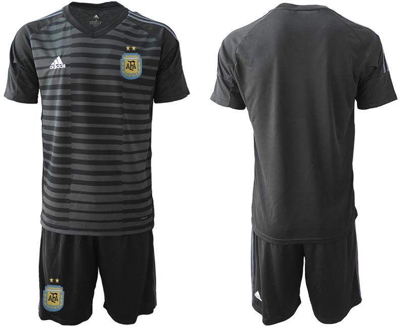 2019-20 Argentina Black Goalkeeper Soccer Jersey