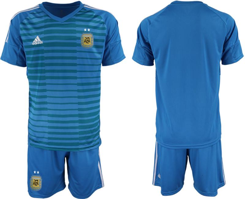 2019-20 Argentina Blue Goalkeeper Soccer Jersey