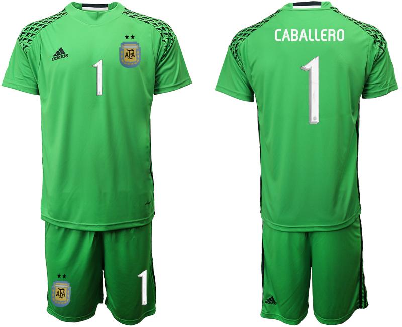 2019-20 Argentina Green 1 CABALLERO Goalkeeper Soccer Jersey