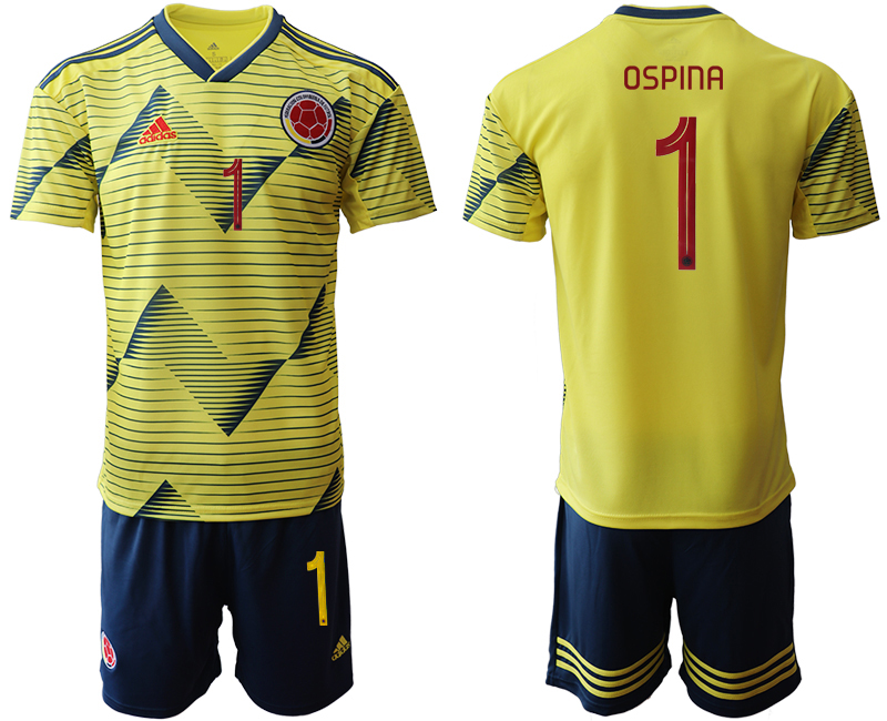2019-20 Colombia 1 OSPINA Home Soccer Jersey