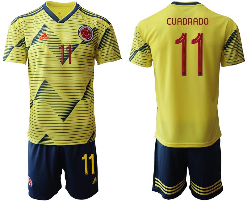 2019-20 Colombia 11 CUADRADO Home Soccer Jersey