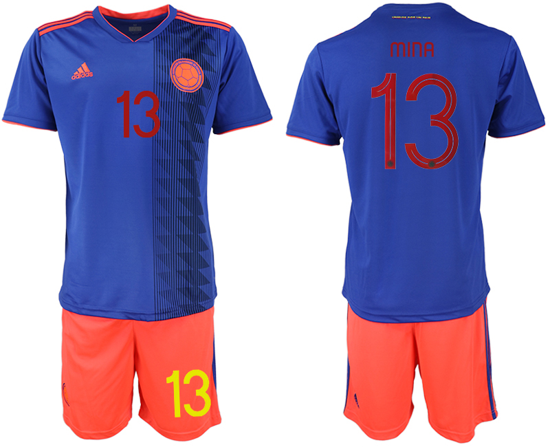 2019-20 Colombia 13 MINA Away Soccer Jersey