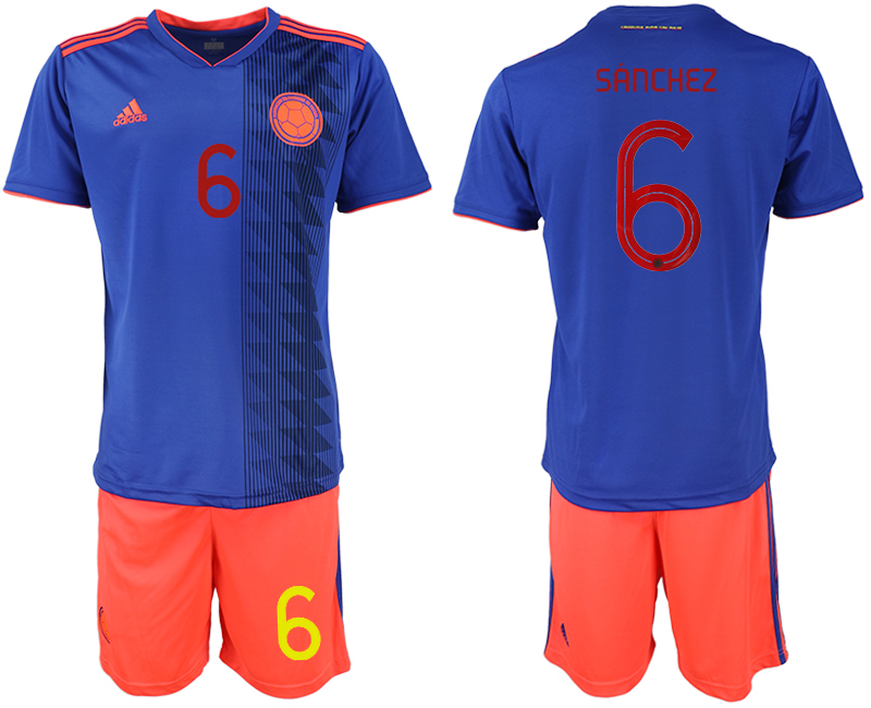 2019-20 Colombia 6 SANCHEZ Away Soccer Jersey