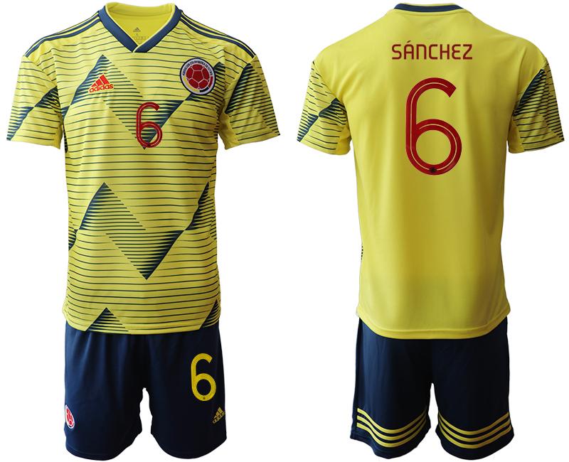 2019-20 Colombia 6 SANCHEZ Home Soccer Jersey