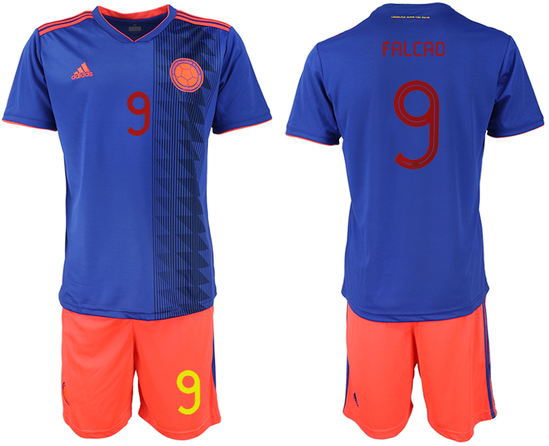 2019-20 Colombia 9 FALCAO Away Soccer Jersey
