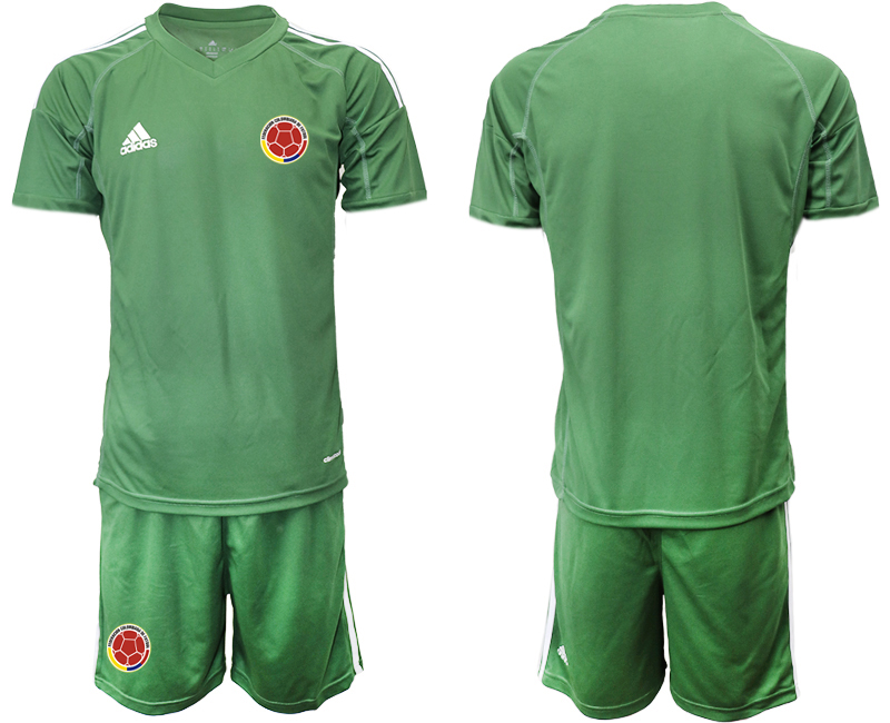 2019-20 Colombia Army Green Goalkeeper Soccer Jersey