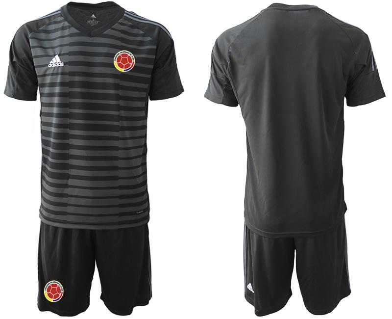 2019-20 Colombia Black Goalkeeper Soccer Jersey
