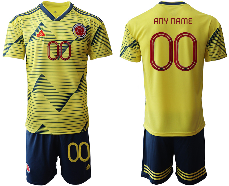 2019-20 Colombia Customized Home Soccer Jersey