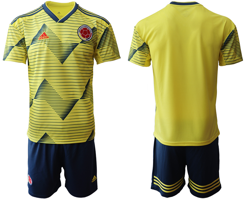2019-20 Colombia Home Soccer Jersey
