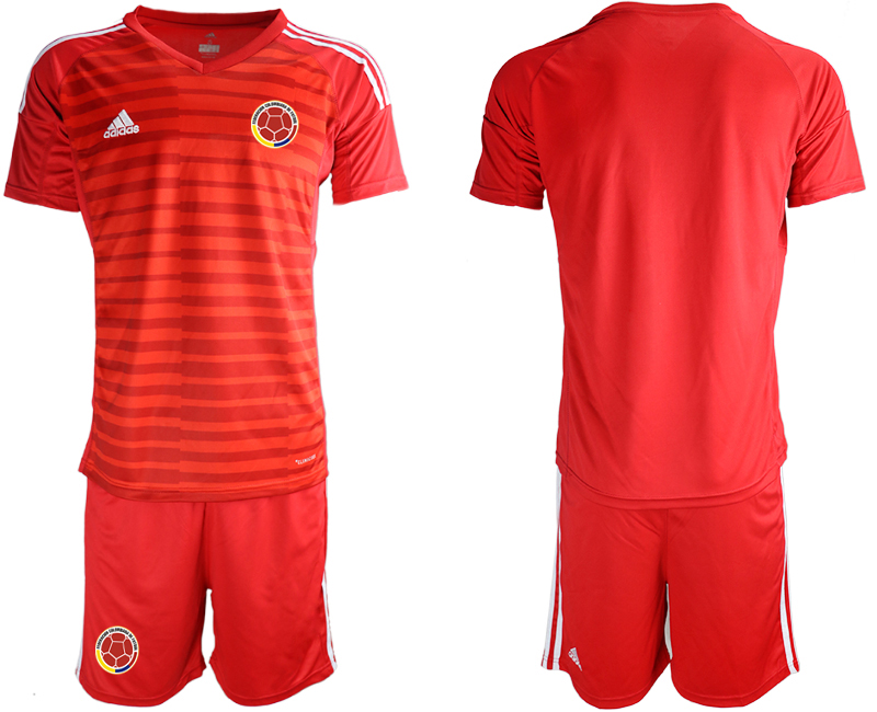 2019-20 Colombia Red Goalkeeper Soccer Jersey