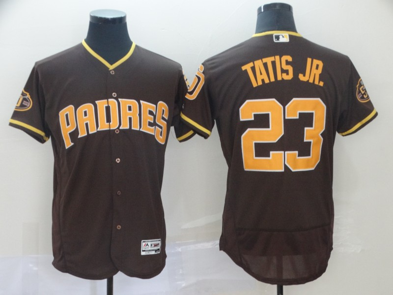 Padres 23 Fernando Tatis Jr. Brown 50th Anniversary FlexBase Jersey