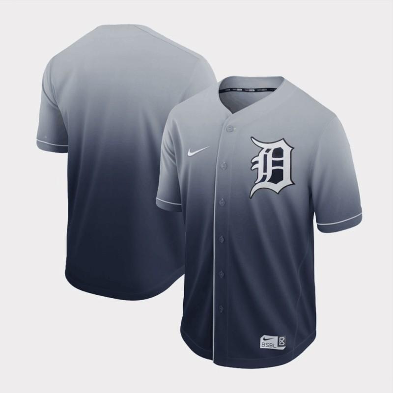 Tigers Blank Gray Drift Fashion Jersey