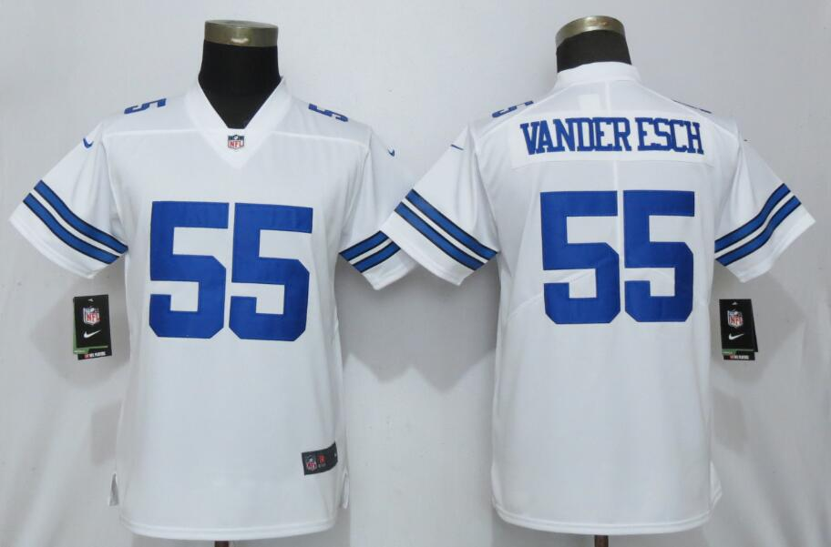 Nike Cowboys 55 Leighton Vander Esch White Women Vapor Untouchable Limited Jersey