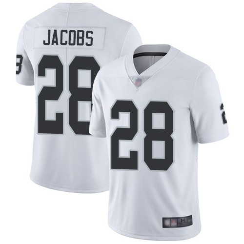 Nike Raiders 28 Josh Jacobs White 2019 NFL Draft First Round Pick Vapor Untouchable Limited Jersey