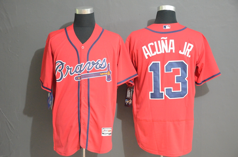 Braves 13 Ronald Acuna Jr. Red Flexbase Jersey