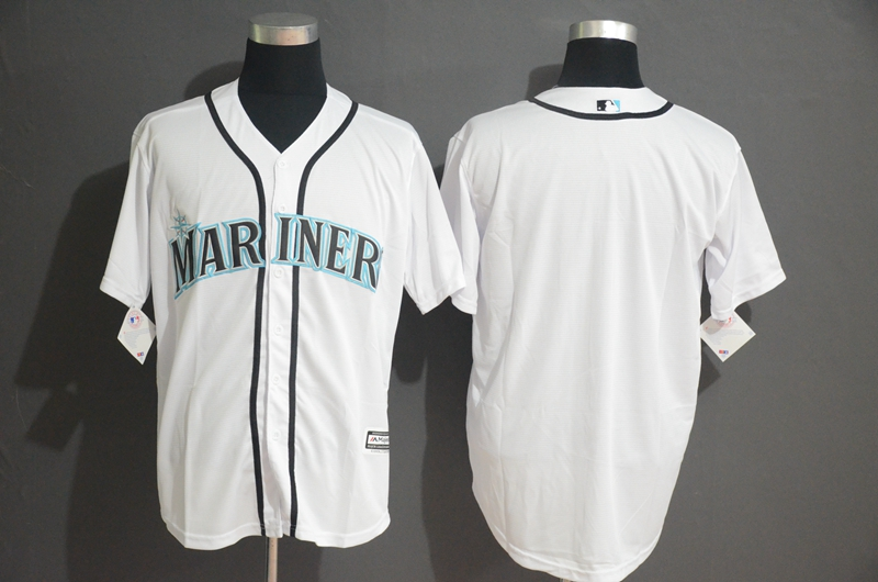 Mariners Blank White Cool Base Jersey