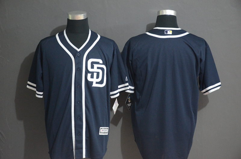 Padres Blank Navy Cool Base Jersey