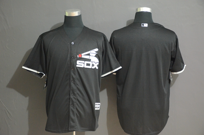 White Sox Blank Black Cool Base Jersey