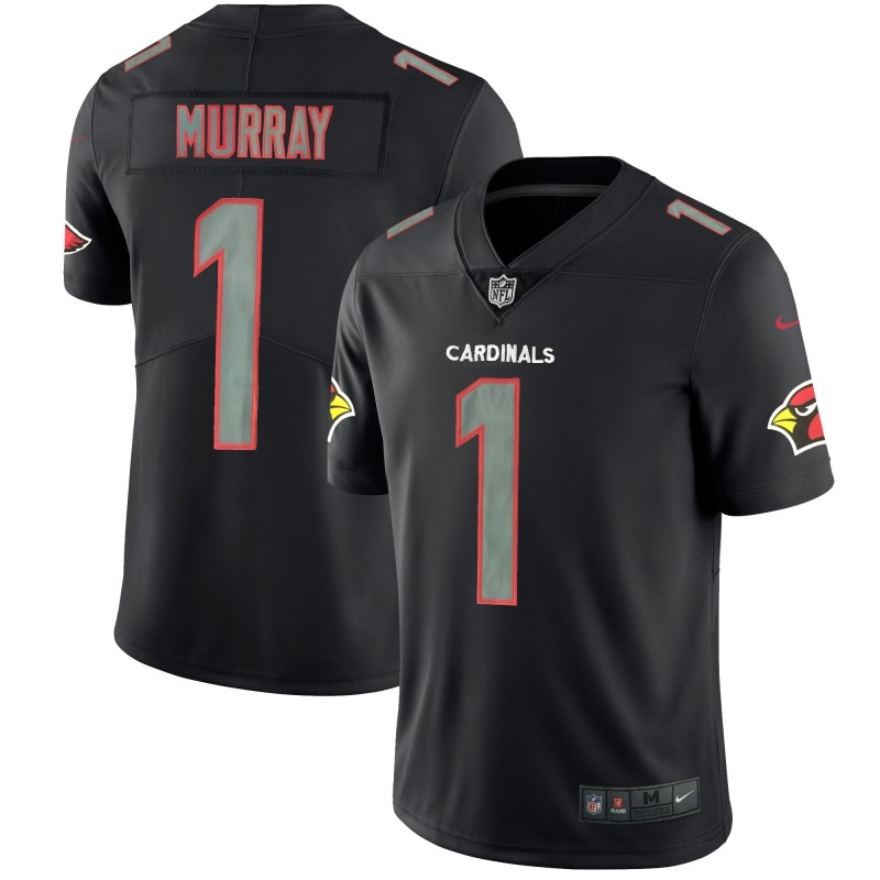 Nike Cardinals 1 Kyler Murray Black Impact Rush Limited Jersey