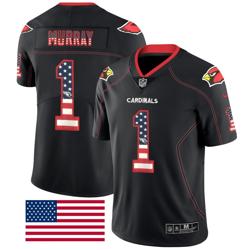 Nike Cardinals 1 Kyler Murray Black USA Flag Fashion Limited Jersey