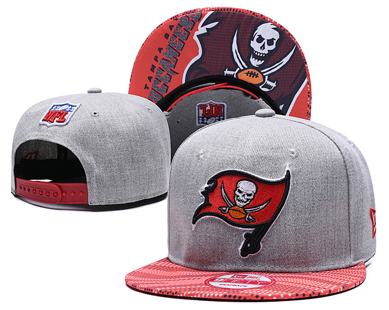 Buccaneers Team Logo Gray Red Adjustable Hat TX