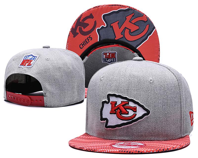 Chiefs Team Logo Gray Red Adjustable Hat TX