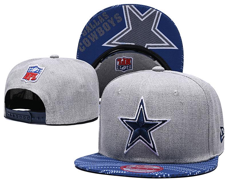 Cowboys Team Logo Gray Adjustable Hat TX