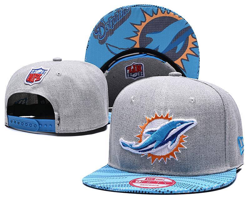 Dolphins Team Logo Gray Adjustable Hat TX