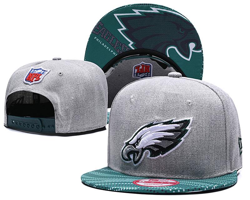 Eagles Team Logo Gray Green Adjustable Hat TX