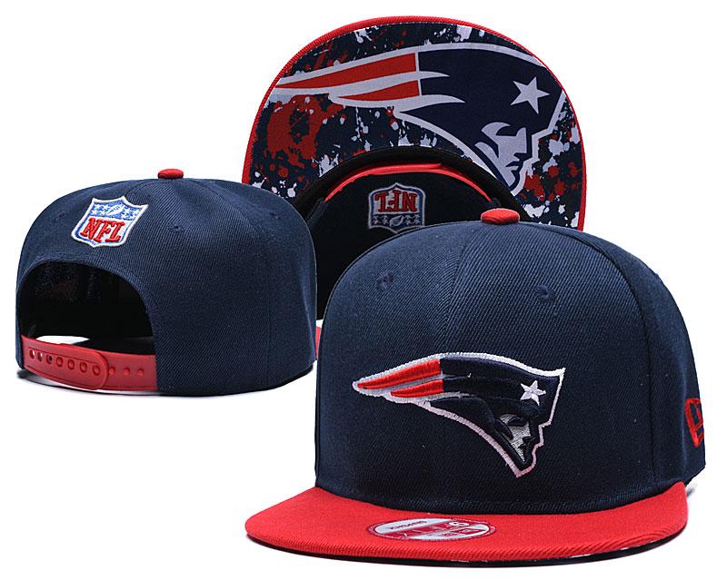 Patriots Team Logo Navy Red Adjustable Hat TX