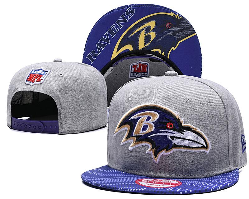 Ravens Team Logo Gray Adjustable Hat TX
