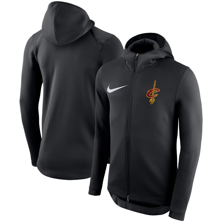 Cleveland Cavaliers Nike Showtime Therma Flex Performance Full Zip Hoodie Black
