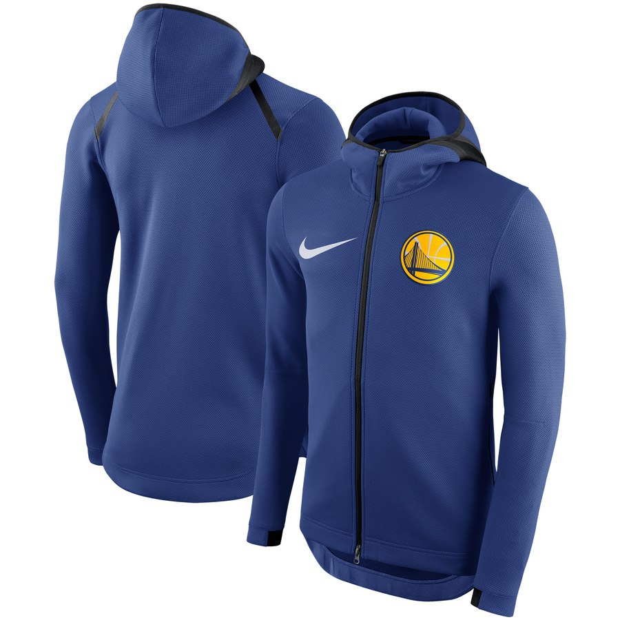 Golden State Warriors Nike Showtime Therma Flex Performance Full Zip Hoodie Royal